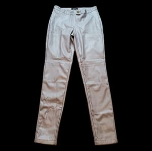 HAODUOYI Vegan Leather Skinny Pants Size M